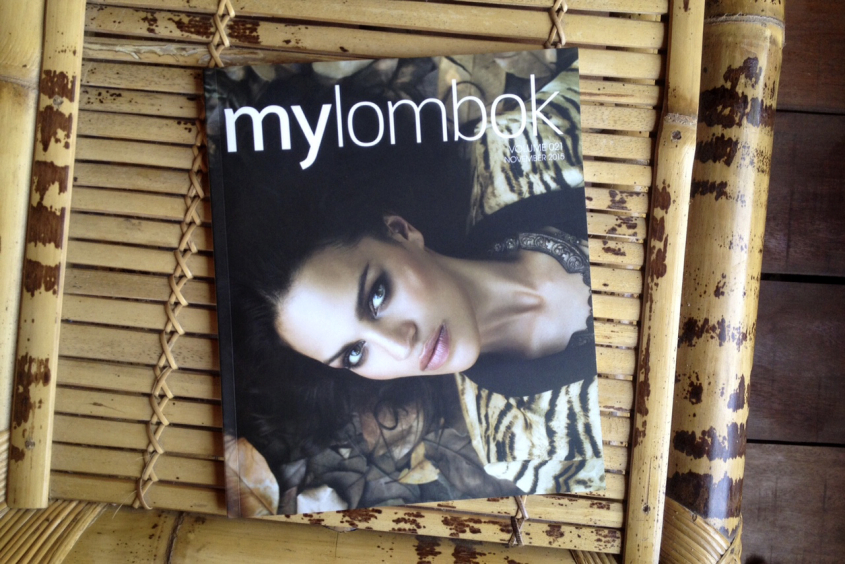 Spreading the word with My Lombok magazine!